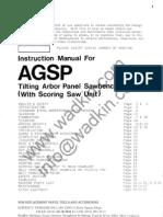 Wadkin AGS-P Sawbench Manual & Parts List