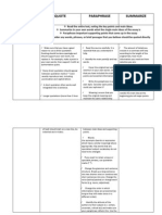 How and When Quote, Paraphrase and Summarize Handout
