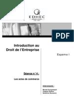 Droit de l'Entreprise > Scéance 4 > séance 4