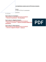Micro > Programme Des Exercices à Préparer Pour Les TD de Micro