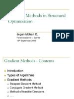 Gradient Methods in Structural Optimization