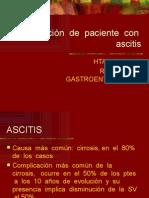 Evaluación de Paciente Con Ascitis
