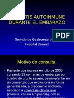 Hepatitis Autoinmune Durante El Embarazo Caso