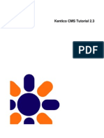 Kenticocms Tutorial