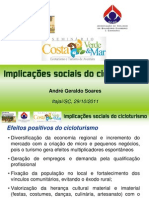 Implic. sociais cicloturismo - André Soares
