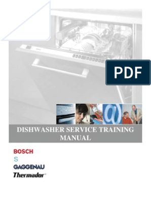 Bosch Dishwasher Service Training | Dishwasher | Water Heating