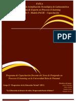 Programa de Capacitación Docente del Área de Postgrado en Procesos E-learning en la Universidad Beta de Panamá