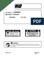 Echo GT-225 Operators Manual