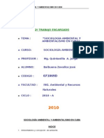 SOCIOLOGÍA AMBIENTAL Y AMBIENTALISMO EN CUBA