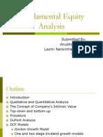 Fundamental Equity Analysis