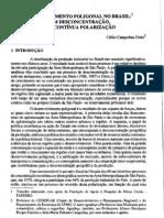 desenvolvimento poligonal no Brasil- nem desconcentração, nem contínua polarização