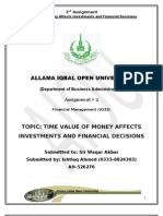 How Time Value of Money Affects Investments and Financial Decisions in Financial Minagement.