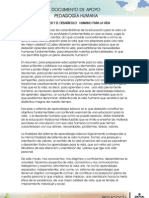 Documento de Apoyo Pedagogia Humana Calidad de Vida