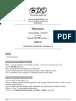 A2AS MATH PP January 2010 as 1 M1 Mechanics 1 6102