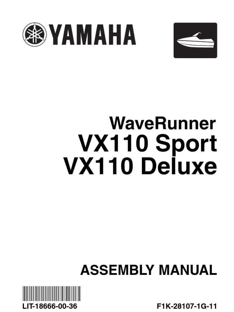 yamaha owners manual vx110 battery charger battery electricity rh scribd com yamaha vx 110 repair manual yamaha vx110 deluxe manual