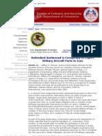 U. S. Bureau of Industry and Security - DOJ Press Release - April 9, 2009