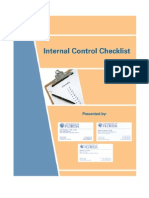 Internal Control Checklist