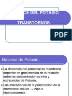Balance Del Potasio - Alteraciones