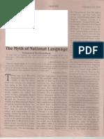 """""""Myth of National Language."""""""