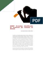 AUDIT- Screening- Identificación de Trastornos por Consumo de Alcohol.