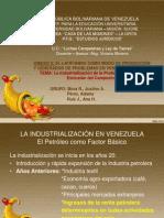 La Industrializacion en Venezuela y La Exclusion Del Campesino