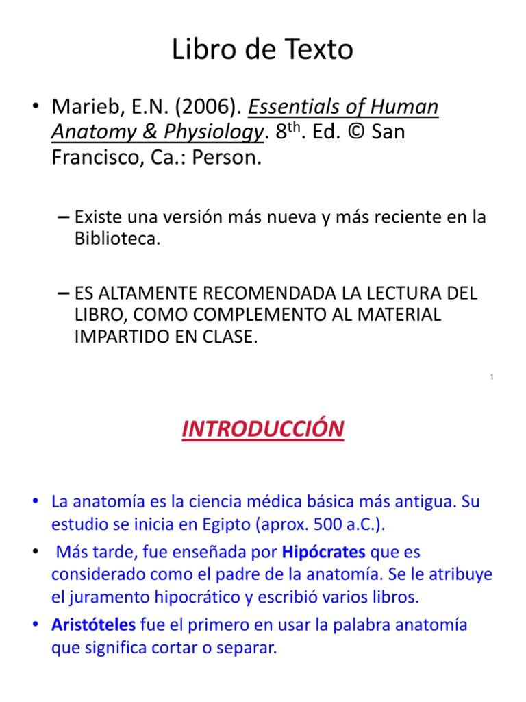 Magnífico Marieb Anatomía Y La Fisiología Novena Edición Inspiración ...