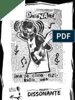 Cartilha Dissonante para montar web rádio