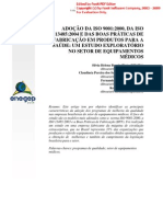 Ado%C3%A7%C3%A3o Da ISO 9001 13485 e BPF Em Ind%C3%BAstria de Equip Med Hosp
