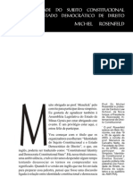 A Identidade Do Sujeito Constitucional Michel Rosenfeld[1]