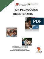 agenda pedagógica bicentenaria 2011-2012