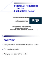 EPA Review of Federal Air Regulations for the Oil and Natural Gas Sector public meetings August 2010