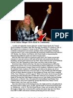 Local Guitar Slinger Gives Back to Community