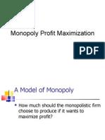 Monopoly Profit Maximization