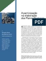 A participação na Elaboração de Planos Diretores