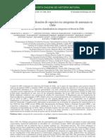 Revision de La Clasificacion de Especies en Categorias de Amenaza en Cl. (Squeo Et Al., 2010)