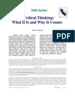Critical Thinking Facione