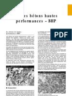 5.6 Bétons Hautes Performances – BHP