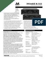Tascam 302 Mk2 Brochure