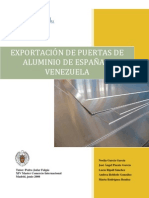 Proyecto Exportacion a Venezuela de Puertas de Aluminio