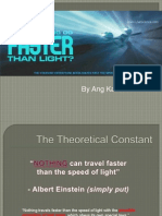 Neutrino Faster Than Speed of Light