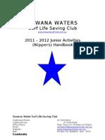 Kawana Surf Club - 2011-12 Nipper Booklet