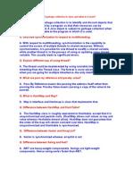 java FAQ's