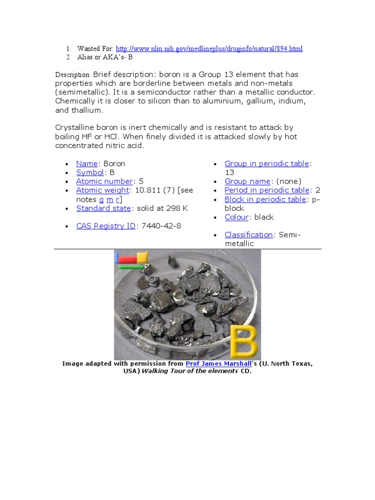 Boron boron chemical substances gamestrikefo Image collections