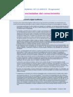 Informe Mundial de La Unesco, Brecha Digital)
