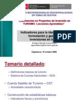 3 ESTADISTICAS  Y CST TURISMO Enrique Garrido Lecca
