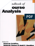 The Handbook of Discourse Analysis by Deborah Schiffrin Deborah Tannen- Heidi Ehernberger Hamilton