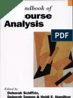 The Handbook of Discourse Analysis by Deborah Schiffrin Deborah Tannen- Heidi Ehernberger Hamilton