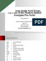 Georgian Pro-Verbs Amiridze