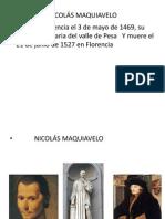 NICOLÁS MAQUIABELO