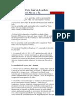 25 Frases de La Carta Porta Fidei Del Papa